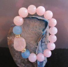 Exquisite Rose Quartz  & Aqua Jade Energy by EtherealEnergy, $36.00  Etsy.Com