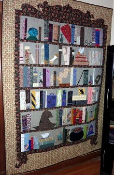 Harry Potter Bookcase Quilt