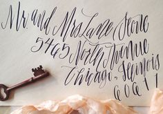 Mon Voir Calligraphy | via Oh So Beautiful Paper