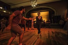 Saeed Noursalehi and Stephanie Dekorte dance at Seattle's Century Ballroom on Capitol Hill on a Wednesday night.