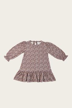 Organic Cotton Ellen Dress - Lily of the Valley