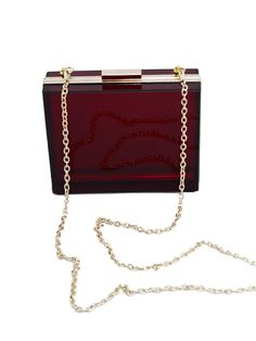 Claret Acrylic Hard Box Bag