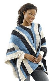 Ravelry: Vertical Stripe Poncho (crochet) pattern by Lion Brand Yarn