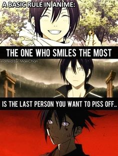Yato Noragami true anime smiles last person to make mad Noragami Anime, Noragami Bishamon, Manga Anime, Manga Girl, Anime Girls, Koro Sensei, Sad Anime Quotes, Epic Quotes, Yatori