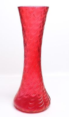RED IRIDESCENT VASE-LOETZ ?? | Pottery & Glass, Glass, Art Glass | eBay!