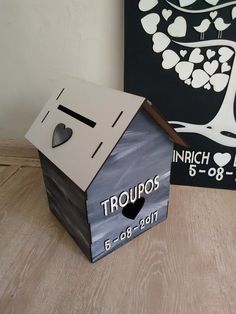 Wedding Post Box personalised #weddingpost #dienessie