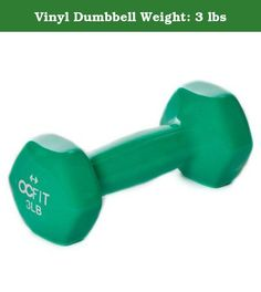 """Vinyl Dumbbell Weight: 3 lbs. HRH-DB3 Weight: 3 lbs Features: -Vinyl coated. Product Type: -Dumbbells. Quantity: -Single. Weight Range: -< 5 Lbs./5-30 Lbs.. Material: -Vinyl. Rubber Coated: -Yes. Dimensions: Weight 3 lbs - Overall Height - Top to Bottom: -2.5"""". Weight 3 lbs - Overall Width - Side to Side: -6"""". Weight 3 lbs - Overall Depth - Front to Back: -2.5"""". Weight 3 lbs - Overall Product Weight: -3 lbs. Weight 5 lbs - Overall Height - Top to Bottom: -3"""". Weight 5 lbs - Overall Width…"""