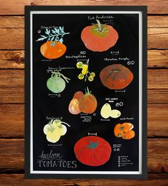 Heirloom Tomatoes Art Print   Who says summer has to end when it starts getting chilly? This...   Posters