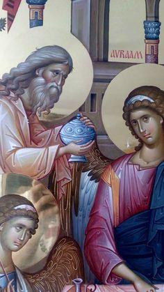 Order Of Angels, Byzantine Icons, Byzantine Mosaics, Orthodox Catholic, Abraham And Sarah, Paint Icon, Holy Mary, Orthodox Icons, Sacred Art