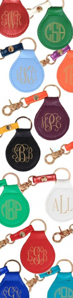 ***NEW*** Monogrammed Foil Stamped Keychain from Marleylilly.com!