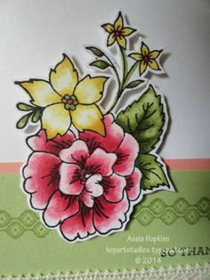 Stampin' Up! I Like You colored in with SU! Hat Tutorial, Parchment Craft, Alcohol Markers, Wood Stamp, Coloured Pencils, Color Blending, Paper Pumpkin, Crayon, Flower Cards