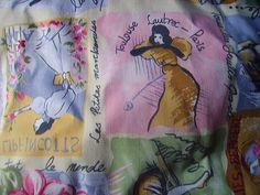 So cute Paris Time Dressy woman Home Decor Fabric