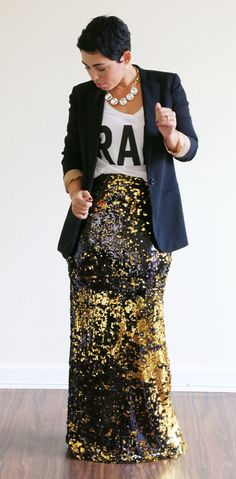 DIY Sequin Maxi Mimi G....I like the style but can do without the sequin