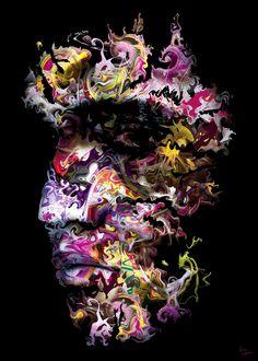 Eric Lapierre - Color Face 03 | Oeuvre d'Art en Vente Artsper