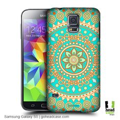Get style, protection and great value for your money with Head Case Designs back cases featuring Turquoise Dream Mandala for Samsung Galaxy S5