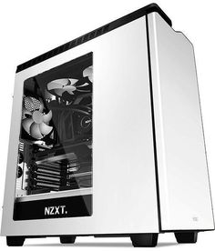 NZXT H440W Silent Midi Tower - Blank Hvid #WRGamers #NZXT #H440W Computer Projects, Computer Build, Computer Case, Gaming Computer, Laptop Computers, Window Reveal, Gaming Pcs, Custom Pc, Disco Duro