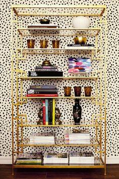 Honey Sweet Home: DIY Brass Etagere – Gold Leafed Ikea Vittsjo Hack!