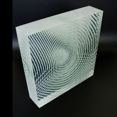 Glass Sculpture  knop  320 x 320 x 80 mm / polished optical plate glass / glued / 2009  by ASOT HAAS