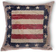 Statue of Liberty Star Throw Pillow