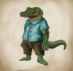 drag to resize or shift-drag to move Wacom Intuos, South America, Concept Art, Digital Art, Character Design, Africa, Photoshop, Fan Art, Crocodile