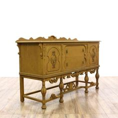 """""""Blue Bird"""" Spanish Revival Carved Wood Buffet @- Loveseat in San Diego $475 -63""""L x 22""""D x 38""""H"""