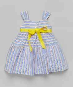 Blue & Yellow Stripe Dress//