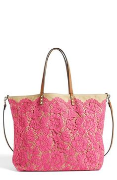 Valentino 'Glam' Reversible Lace Tote available at #Nordstrom