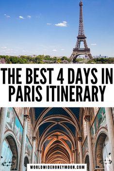 This is the ultimate 4 Days in Paris Itinerary | 4 Days in Paris Packing | Things to do in Paris | Paris Travel | Paris Honeymoon Ideas | Paris Hotels | Paris Itinerary 4 Days | Paris Itinerary First Time | Paris Itinerary Map | Paris For Couples | Romantic Things to do in Paris | Paris for First Timer's | Europe Destinations | Paris 4 Days | Paris Itinerary 3 Days | Trip to Paris | France Travel | Paris in 4 Days Paris France Travel, Paris Travel Tips, Europe Travel Tips, Travel Usa, 4 Days In Paris, Paris Paris, Paris Itinerary 3 Days, Paris Packing, Visit France