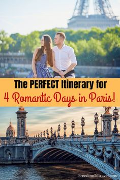 You need this perfect romantic Paris Itinerary! Whether it's your first time or time these things to do in summer and winter will make your vacation in Paris with your sweetheart the perfect time! Paris France Travel, Paris Travel Guide, Europe Travel Tips, European Travel, Travel Destinations, Prague Travel, Travel Goals, Travel Guides, Travel Couple