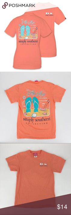 1e1863218 Simply Souther Juniors Tee simply southern T Shirt-I Am In A Flip Flop State