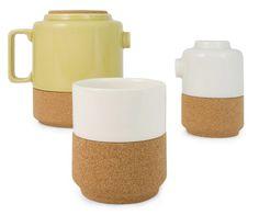 Cork and Color Tea Set