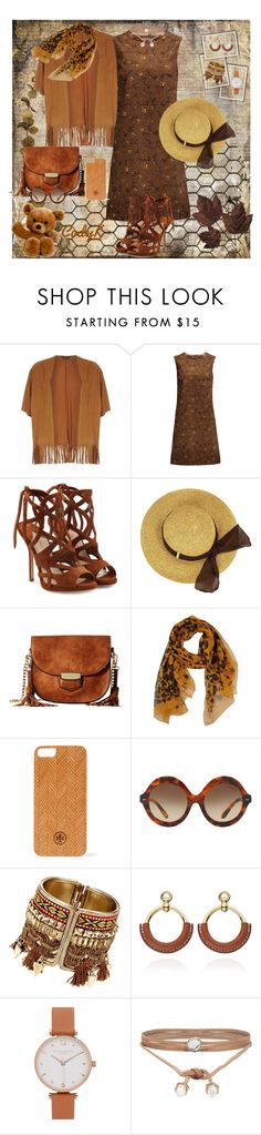 """""""Browns & Golden Yellow"""" by cody-k ❤ liked on Polyvore featuring Dorothy Perkins, Dolce&Gabbana, Paul Andrew, Gabriella Rocha, Burberry, Tory Burch, Ralph Lauren, Olivia Burton and ALDO"""