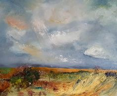 Harvest an original oil painting by Lynn Keddie, British artist.  £450