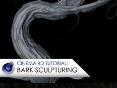 Cinema 4D tutorial sculpturing tree bark.