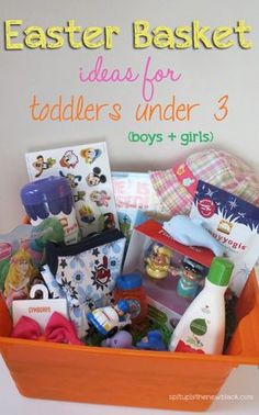 100 candy free easter basket ideas basket ideas easter baskets easter basket ideas for toddlers under age 3 negle Images