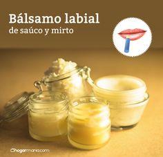 Aprende cómo hacer un bálsamo labial de saúco y mirto. #salud #remediosnaturales #labial #cacao