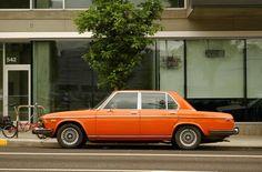 OLD PARKED CARS.: 1973 BMW Bavaria Sedan.
