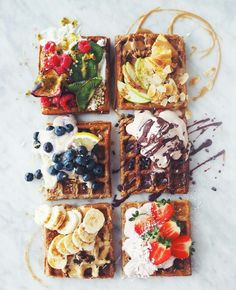 this the prettiest vegan food ever? Waffling on: Who would have thought that sweet treats such as waffles are now on the menu for vegans?Waffling on: Who would have thought that sweet treats such as waffles are now on the menu for vegans? I Love Food, Good Food, Yummy Food, Healthy Food, Healthy Detox, Vegetarian Food, Vegan Food, Food Goals, Aesthetic Food