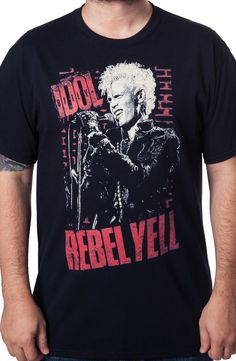 Billy Idol Rebel Yell Shirt: Billy Idol Mens T-Shirt