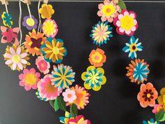 felt flower garland by AidiesHideaway on Etsy