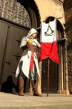 Darkmoony als Altaïr Ibn-La'Ahad aus Assassin's Creed. Movie Costumes, Cool Costumes, Assassins Creed Evie, Best Cosplay, Awesome Cosplay, Assassin's Creed, Hero, Addiction, Anime