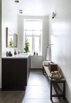 Enkelt og luksuriøst badeværelse