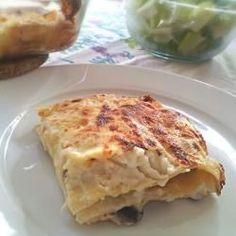 Lasagnes aux champignons et au jambon