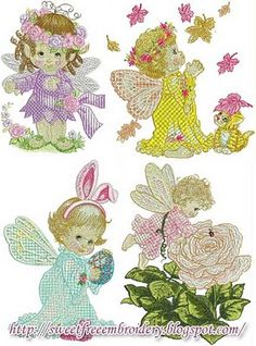 Sweet Free Embroidery: Cute Fairladys Free Embroidery