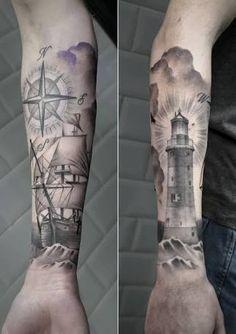 Resultado de imagem para lighthouse tatoo