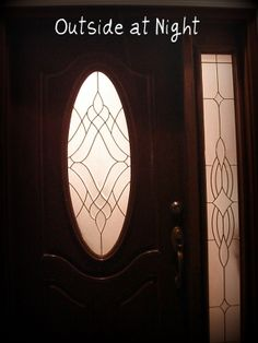 A Front Door With An Oval Window Beautiful Covered With 2½