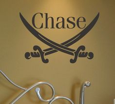 Pirate Swords Wall Decal - It'd be cool if you could find a cheaper way to do it yourself!