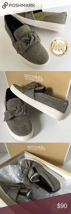 MICHAEL Michael Kors Willa Slip On Sneakers BRAND NEW IN BOX! True to size. Glitters both gold and silver. Add shimmering sweetness to your casual style with the Willa: a glittery platform flat from the MICHAEL Michael Kors collection.  Fabric Elastic goring at sides Closed toe Closed back MICHAEL Michael Kors Shoes Sneakers