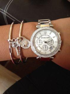 My new Michael Kors watch and bracelet!