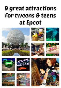 If you're headed to Disney World with tweens and teens, Epcot is fabulous for them. Check out these 9 activities that are bit off the beaten path and so fun that they may not even realize how much they're learning.